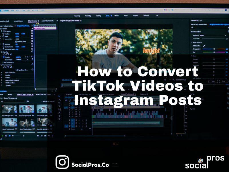 How to Convert TikTok videos to Instagram posts