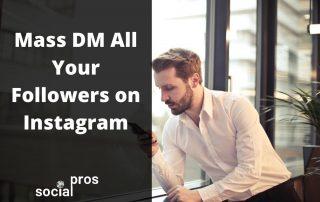 mass dm on Instagram